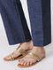 Indigo Elasticated Waist Khari-printed Cotton Pants