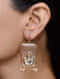Golden Enamelled Earrings with Crystals