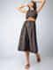 Black-Brown Handloom Cotton Dress