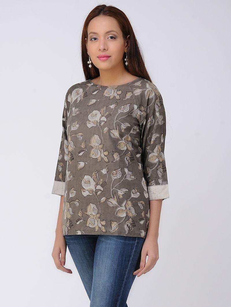 Kashish Dabu-printed Cotton Top