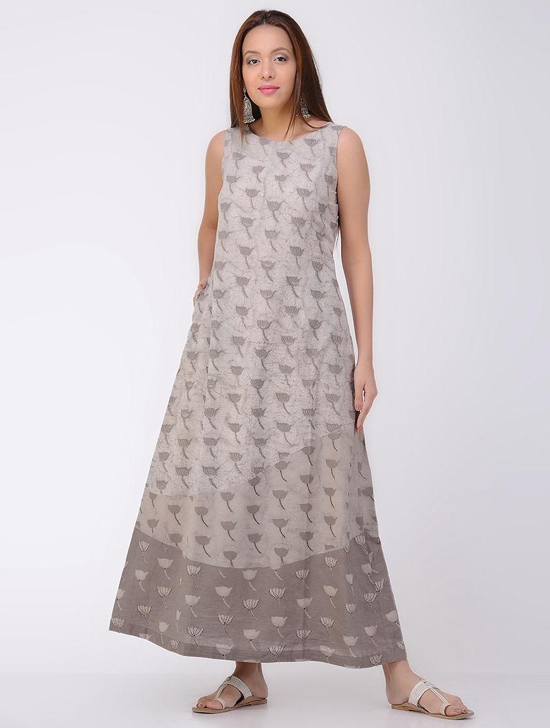 Kashish Dabu-printed Cotton Dress with Pocket
