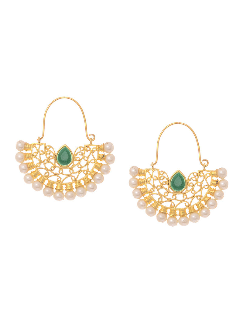 Green Gold-plated Earrings