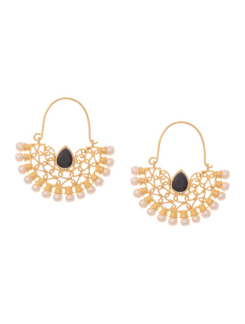 Black Gold-plated Earrings