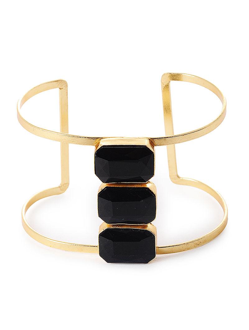 Black Gold Tone Cuff
