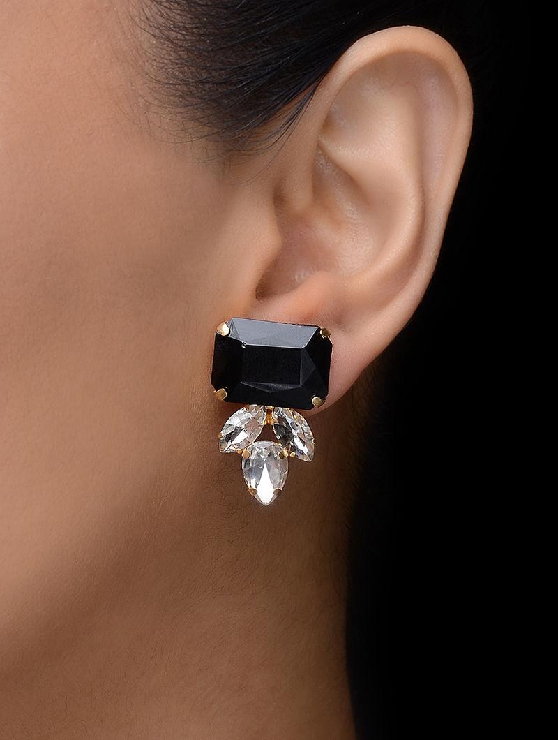 Black Gold Tone Earrings
