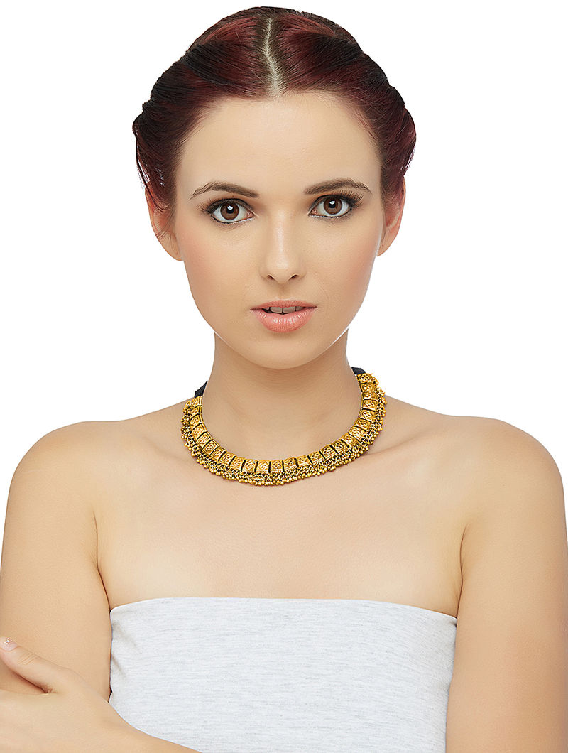Gold-plated Silver Necklace with Floral Motif