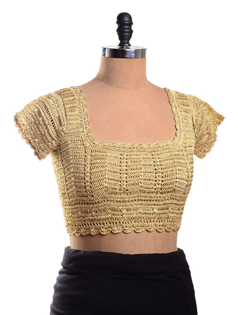 c0470864a6 Golden Dori Crochet Blouse