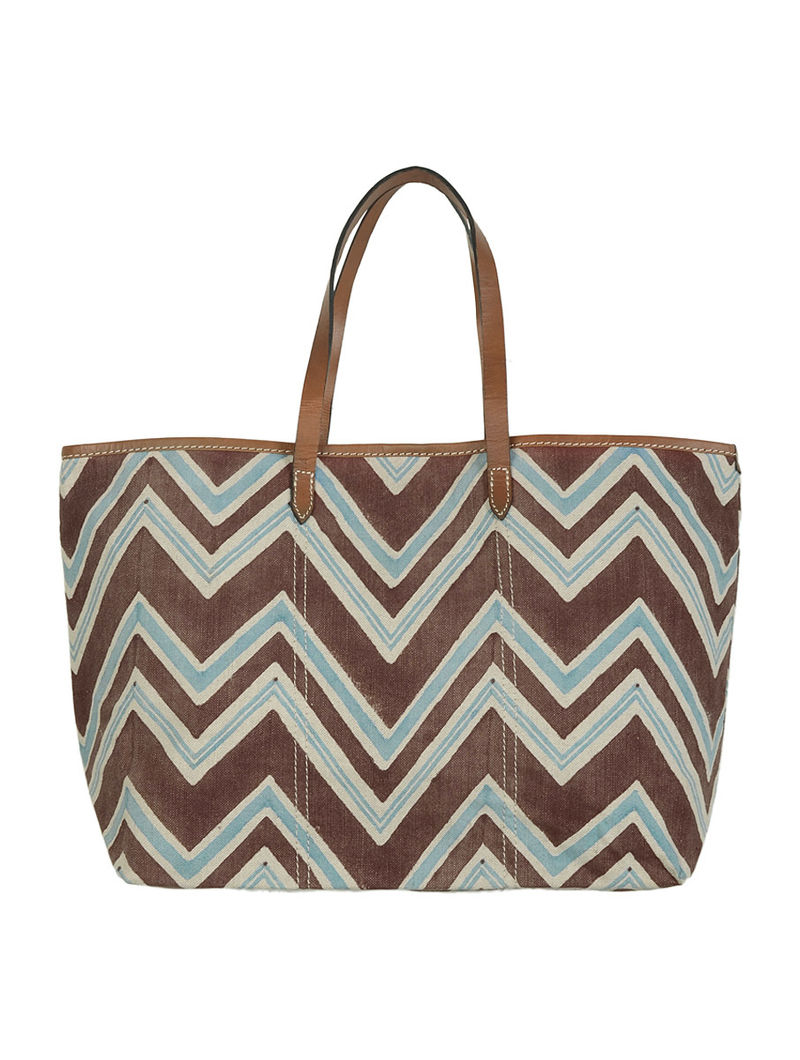 Brown Rasa Tote by Anantaya 6in x 19in x 11.5in