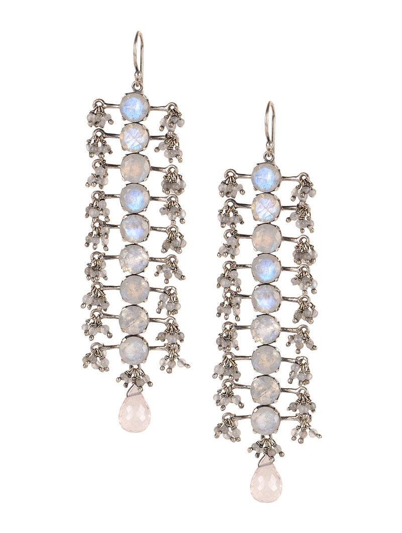 Pair of Chandelier Silver Earrings