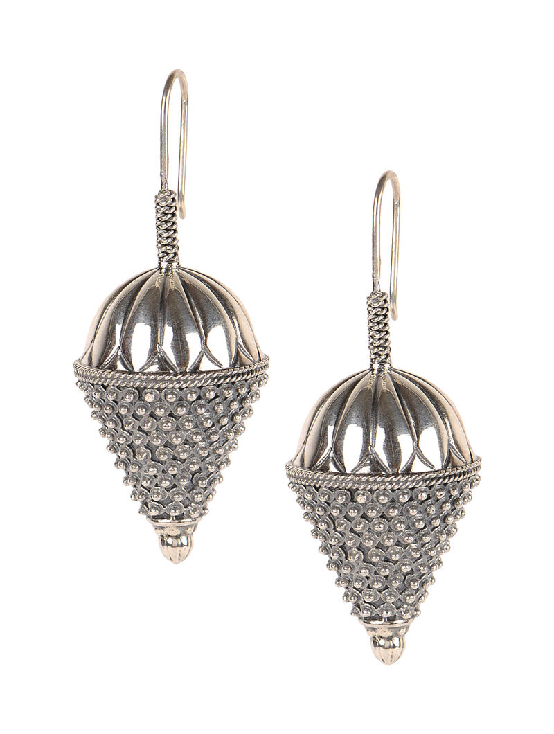 Pair of Bold Silver Earrings