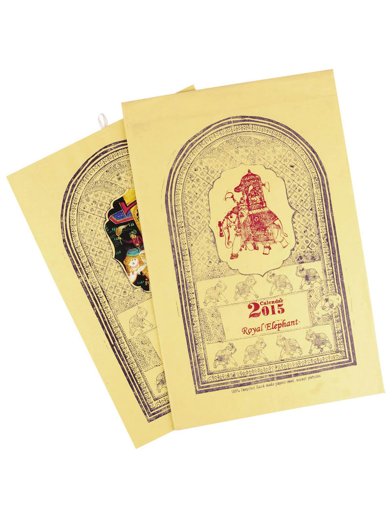Royal Elephant-Calendar 2015  14in x 10.3in
