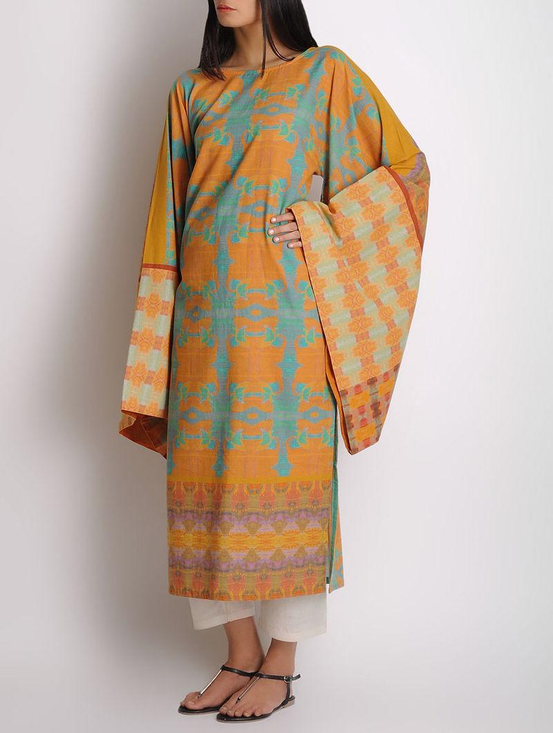 Multi-Color Cotton Digitally Printed Kimono