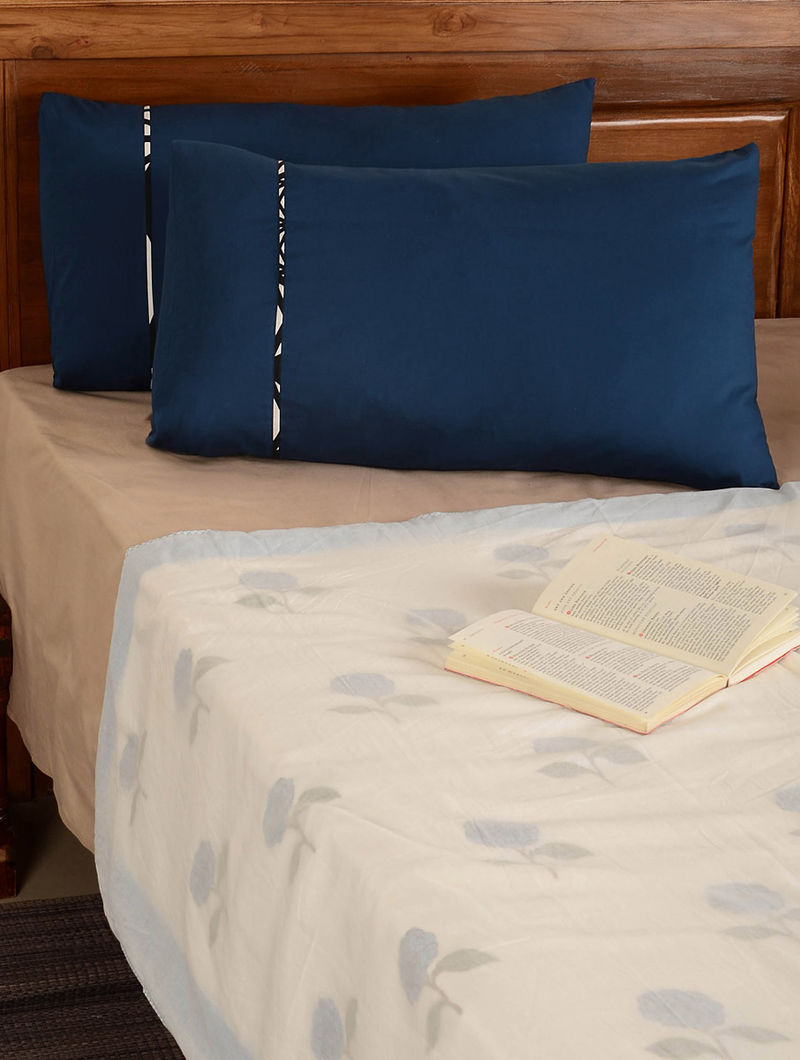 Marine Blue Pillow  Cover-Set of 2