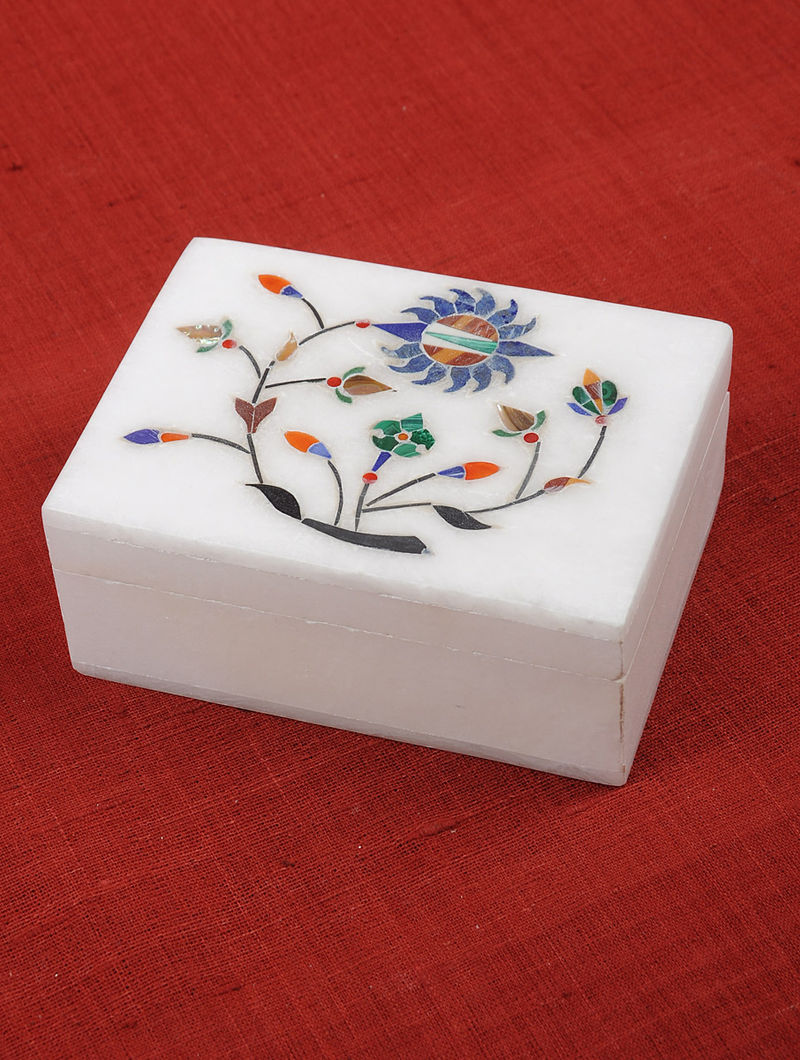 Olive Block-printed Cotton Kurta