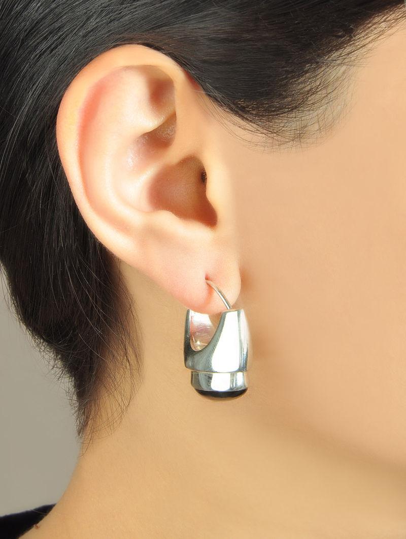 Oval Black Onyx Earrings