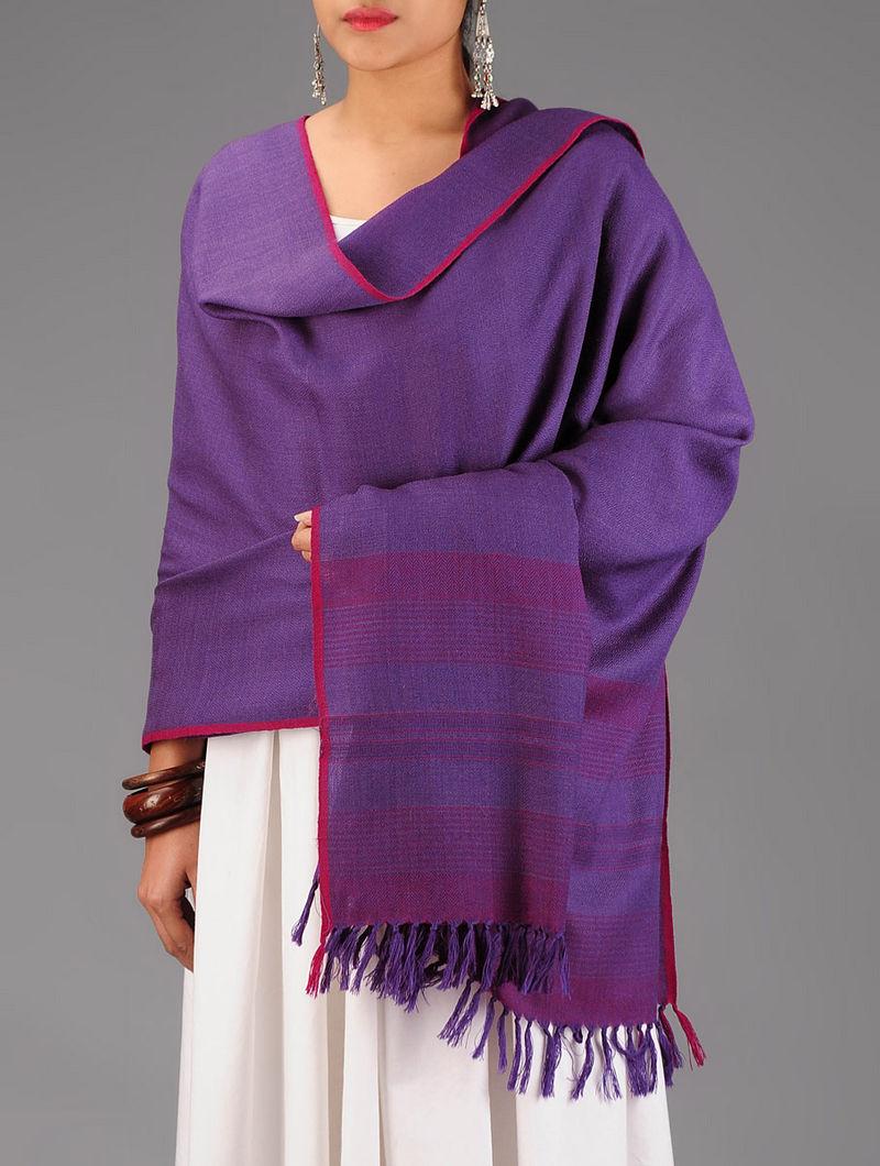 Purple-Fuschia Wool Shawl