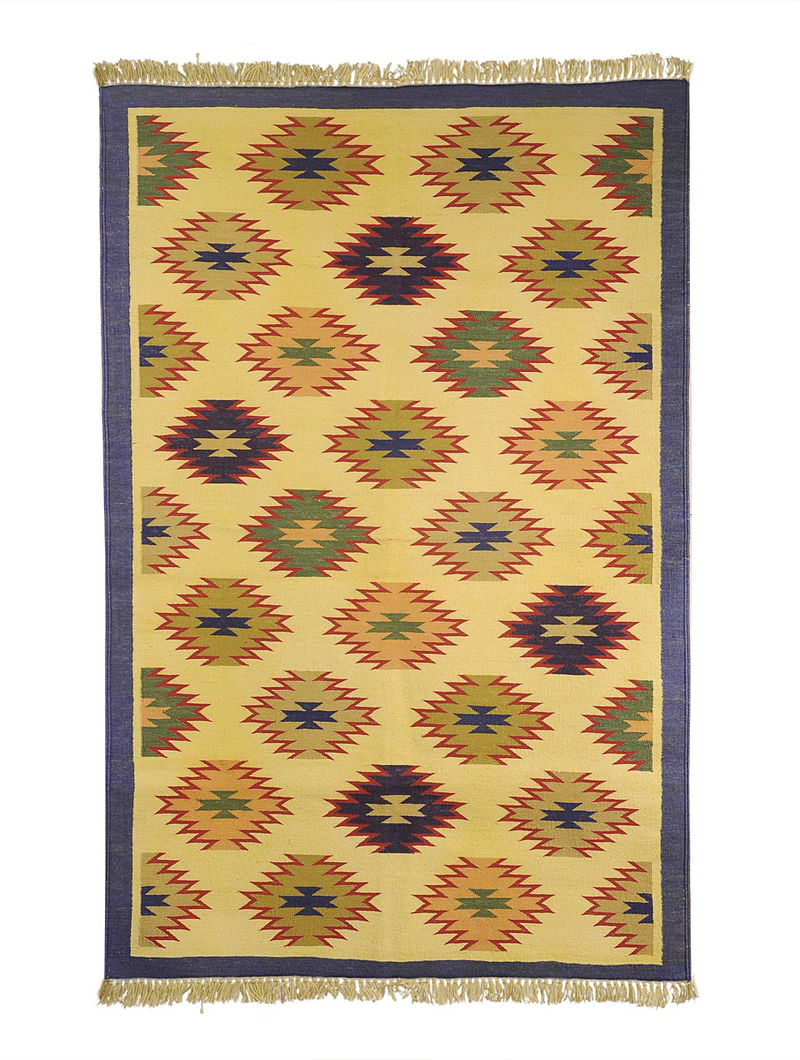 Multi-Color Cotton Punja Durrie 60in x 37.5in