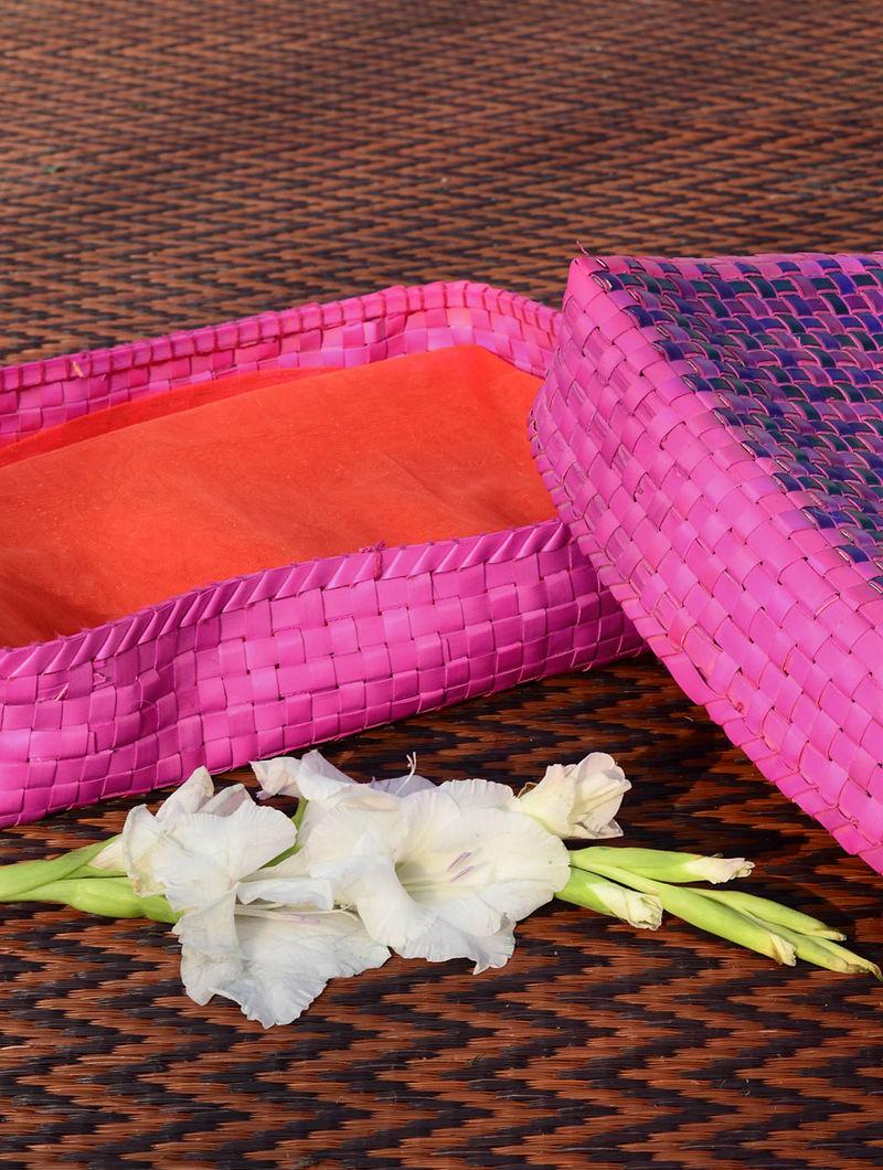 Pink Palmyra Saree Box