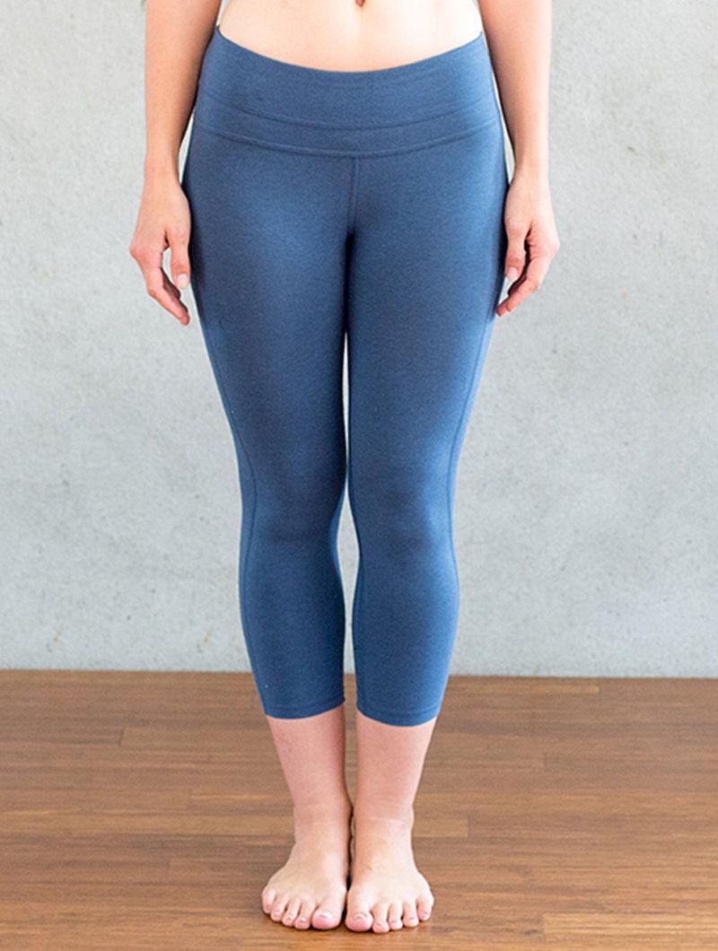 8294699e9a Blue Organic Dyed Cotton-Lycra Yoga Pants