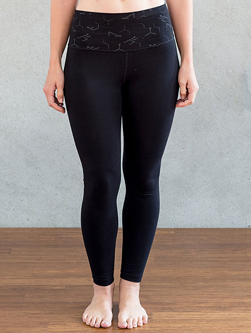 5c0ab666ad Black Organic Dyed Cotton-Lycra Yoga Pants