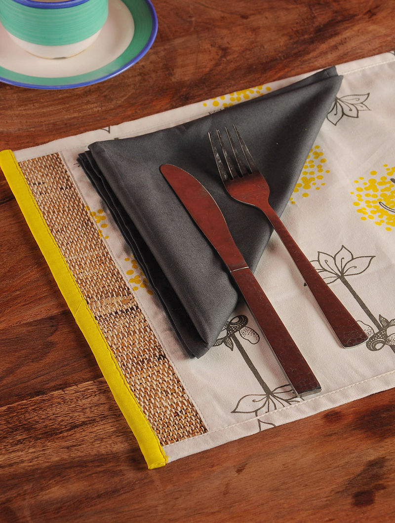 Roots And Wings Table Mat and Napkin - Set of 6