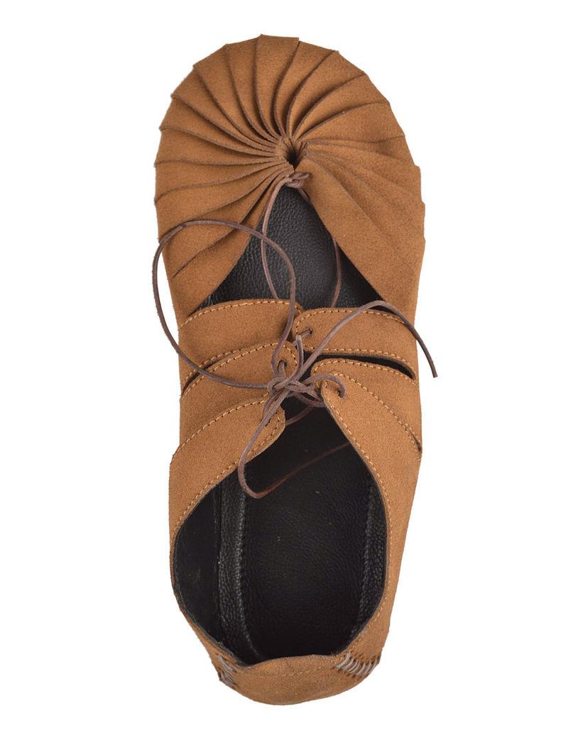 Light Brown Italian Split-Leather Unisex Shoes
