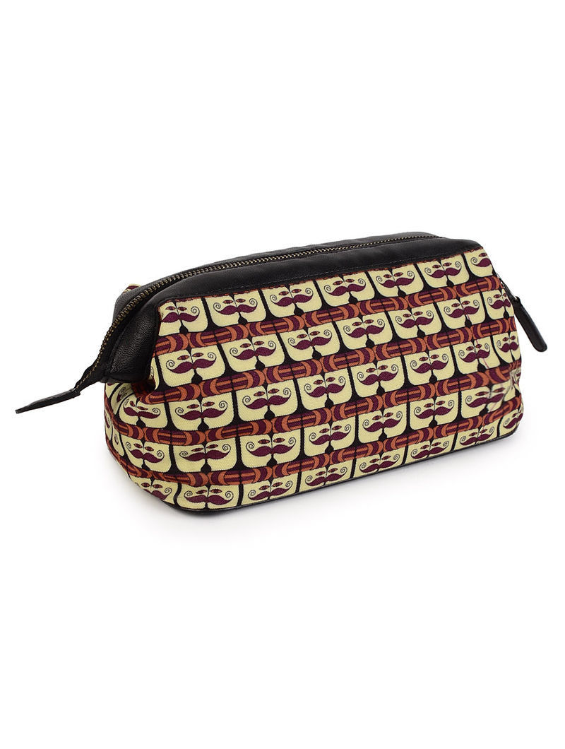 Graphic Printed Mooch Shaving Kit Case