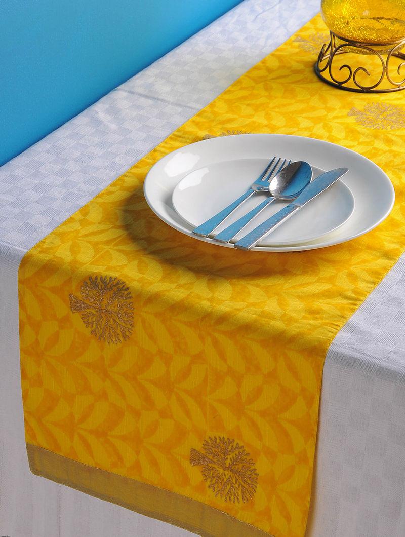 Yellow-Golden Tree Table Runner 45in x 13in