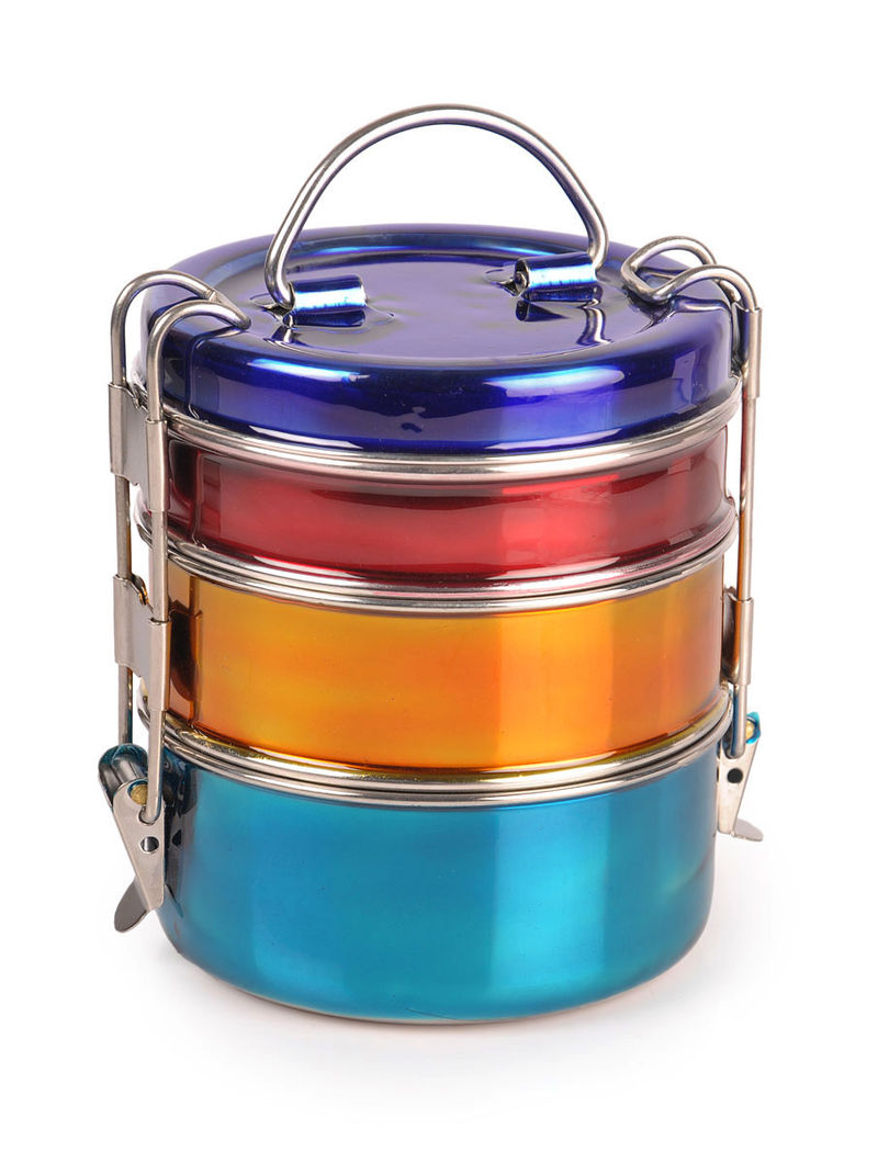 Tiffin Box with Glossy-Finish