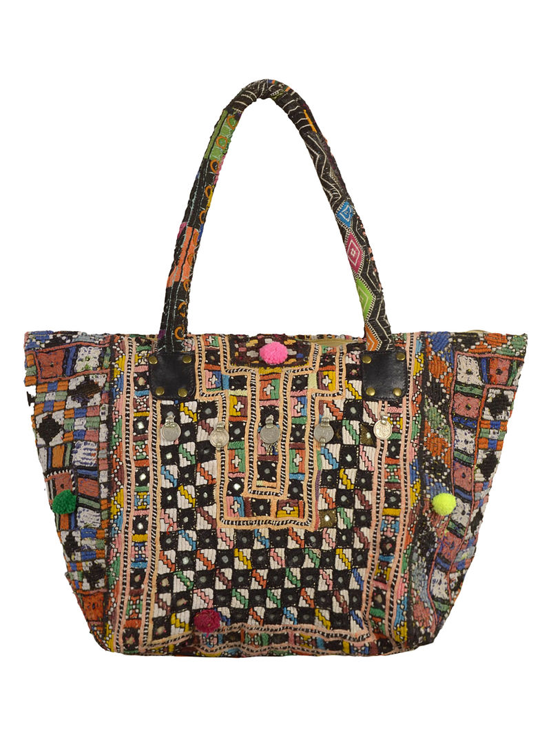 Multi-Color Nomad Embroidered Tote Bag