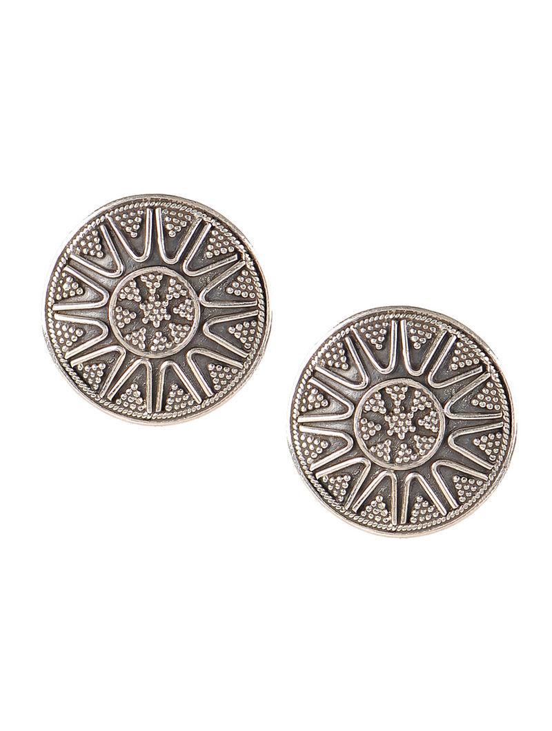 Pair of Bold Silver Earrings
