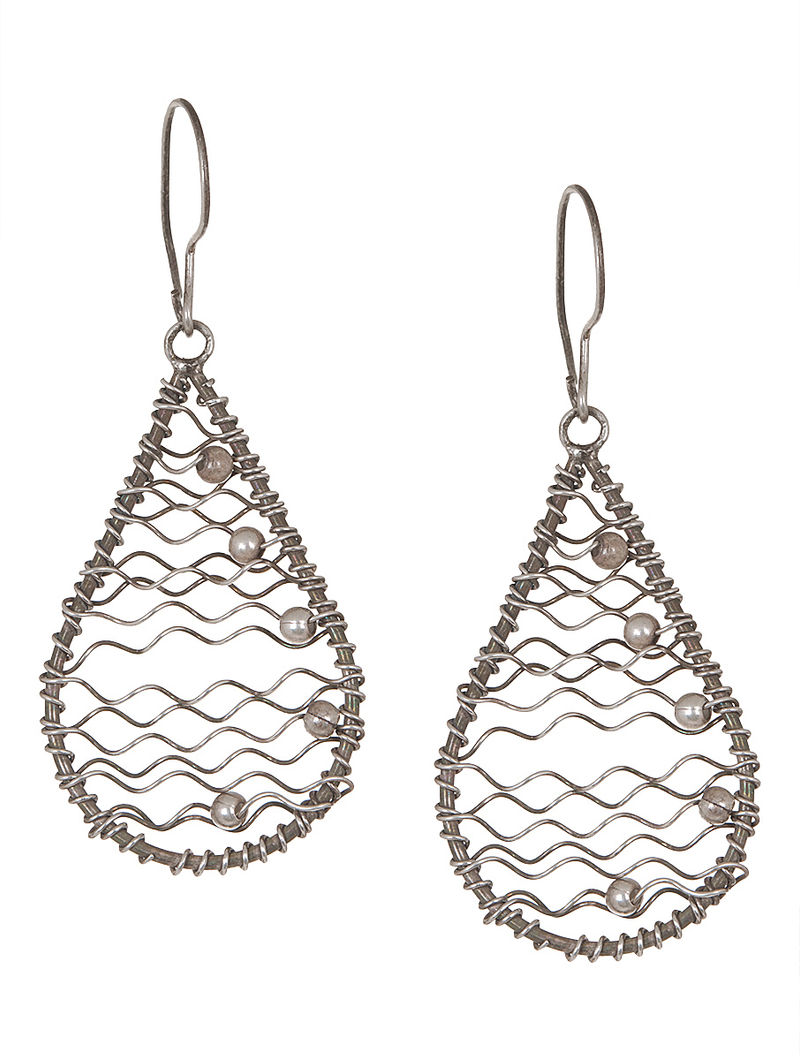 Gypsy Brown Silver Earrings