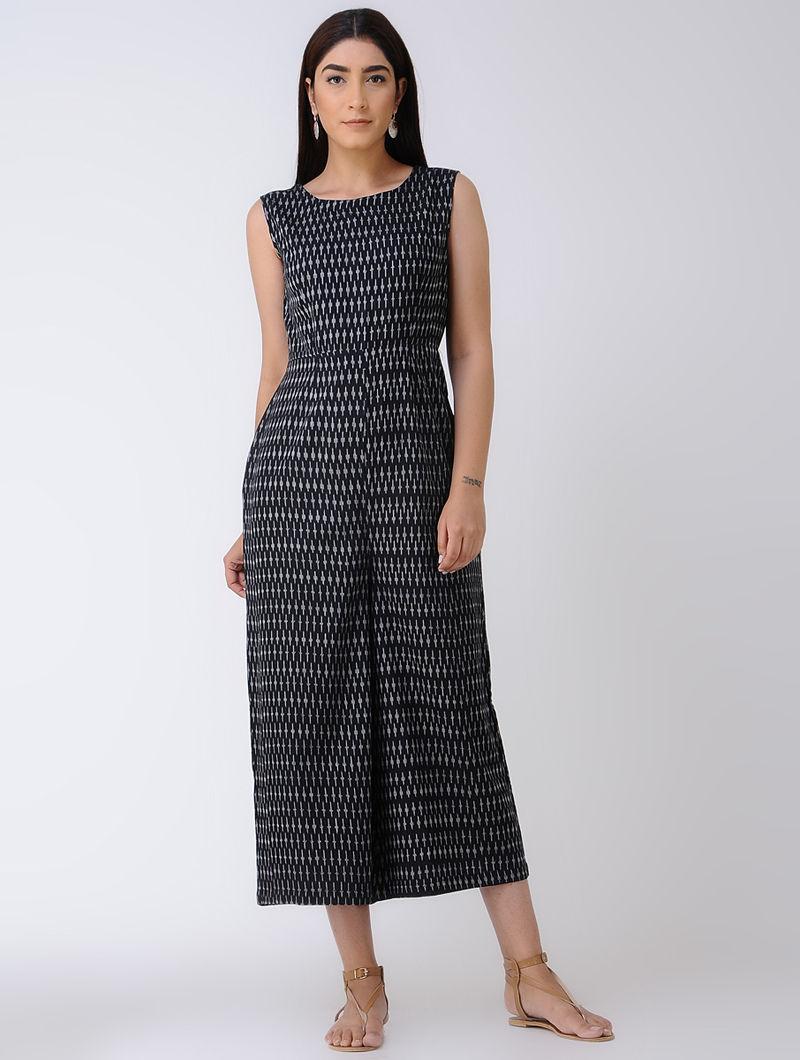 a3714b6f5247 Black Ikat Cotton Jumpsuit