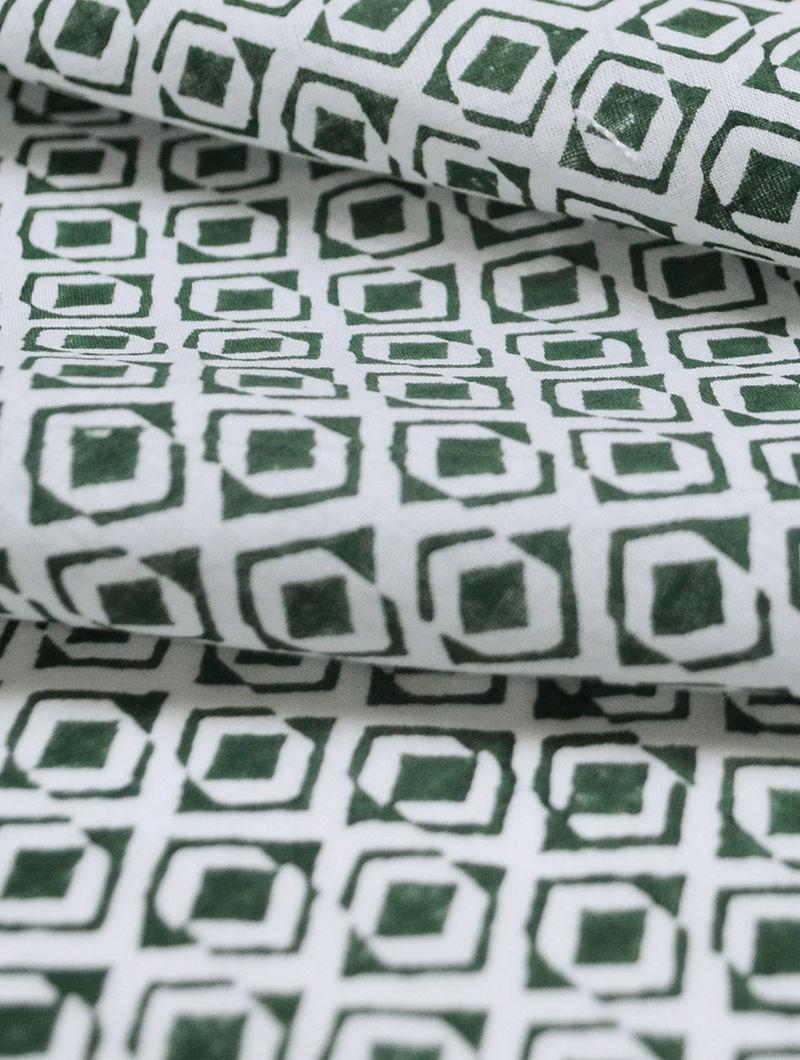 Smoky Cotton Diamond Tile Design Fabric by YAMINI