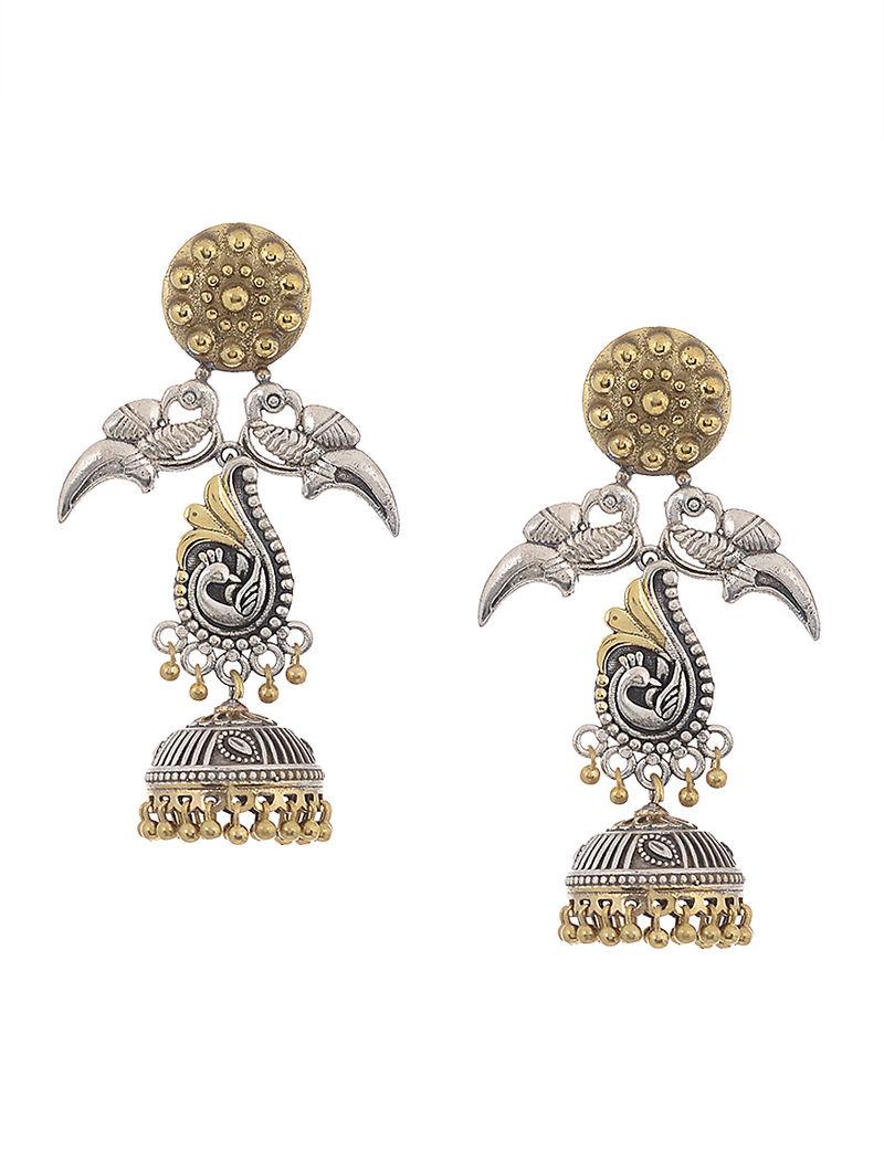 b076a312e4 Dual Tone Brass Jhumka Earrings