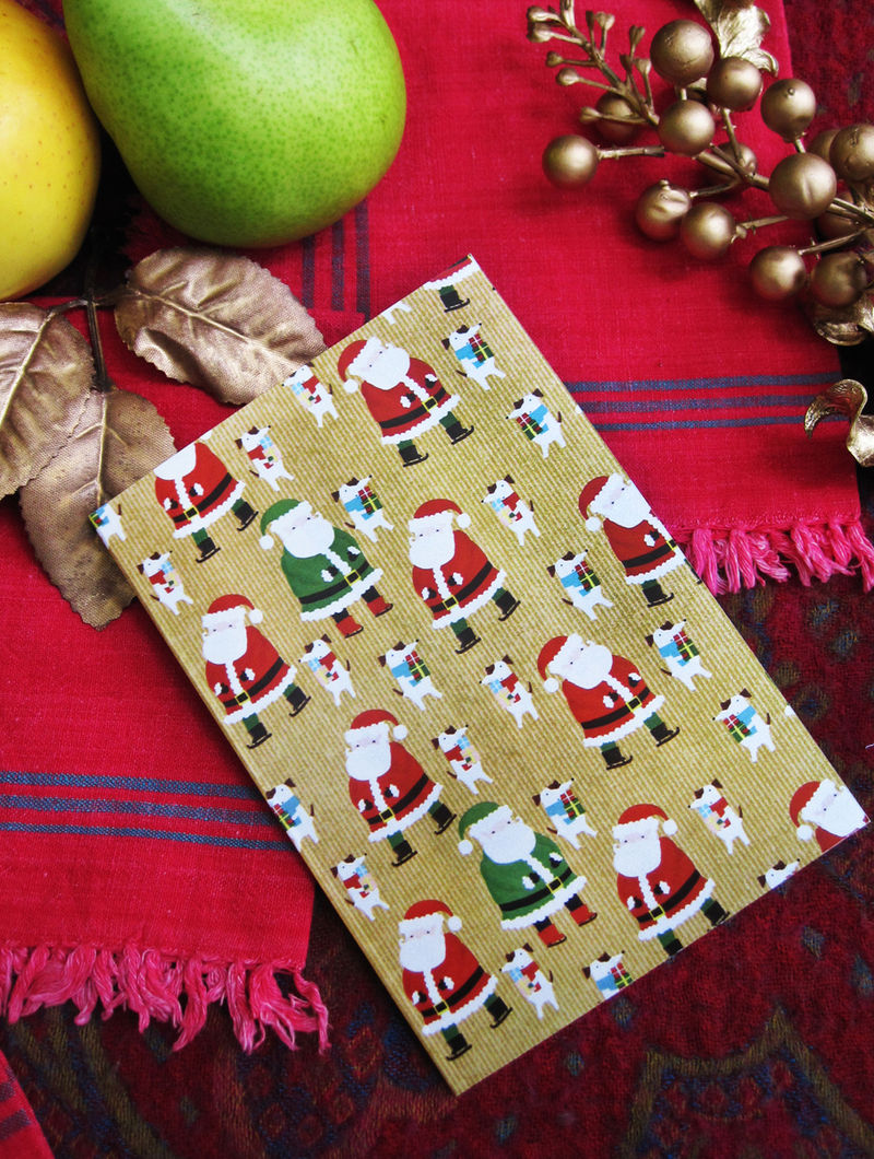 Santa Glory Greeting Card - Set of 4