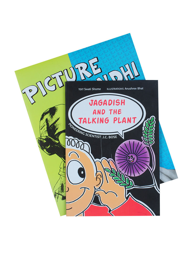 Picture Gandhi By Sandhya Rao (Paperback), Jagadish and the Talking Plant By Dr Jagadish Chandra Bose (Paperback) Set of 2 Books
