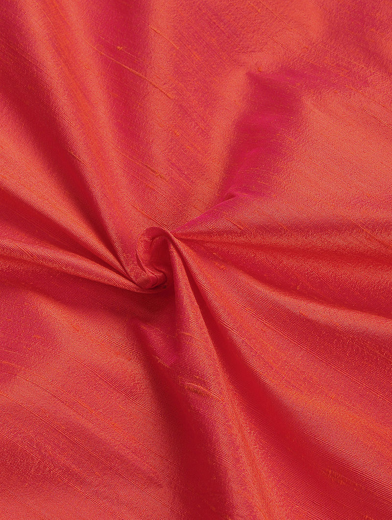 Pink Raw Silk Fabric